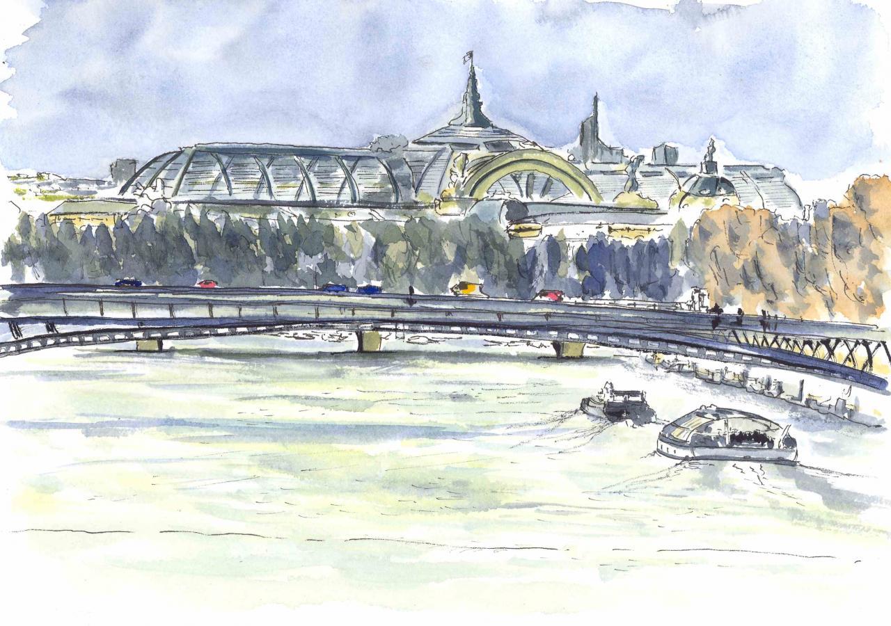 Le Grand Palais - Aquarelle - A4