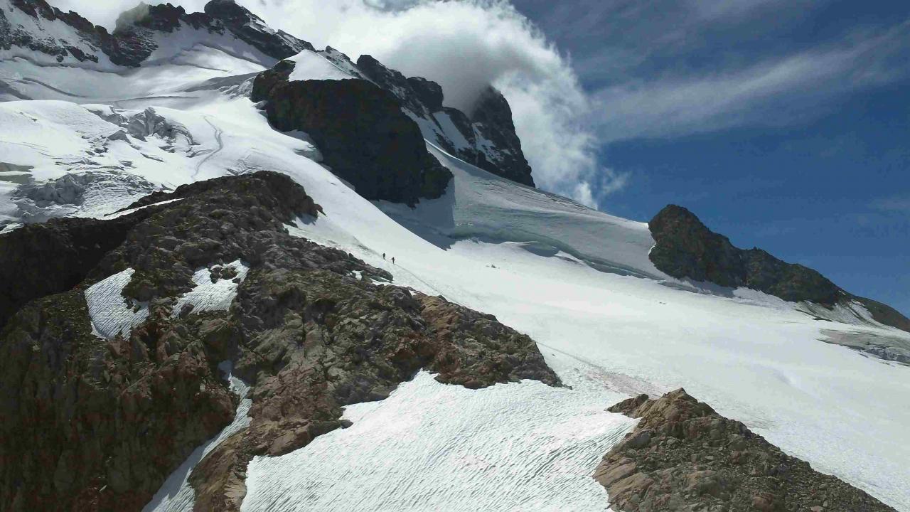 Le versant Nord de La Meije - voie de descente