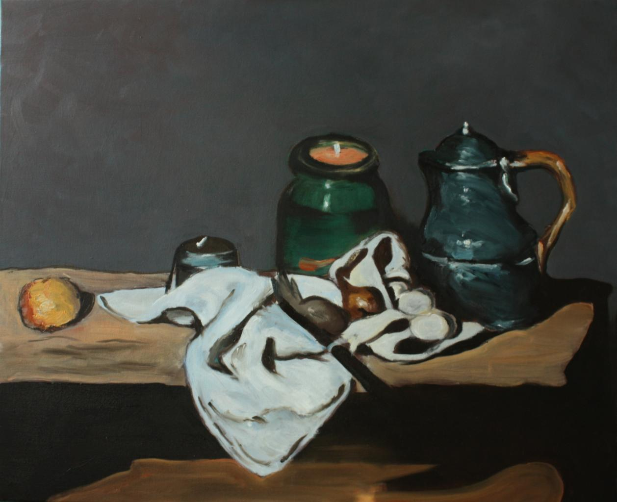 Nature morte à la bouilloire - Cézanne - 61x50 - copie 2012