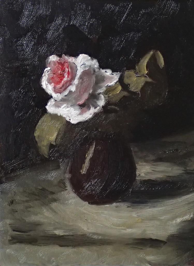 Odilon Redon - Rose dans un vase - 18x24 - copie 2014