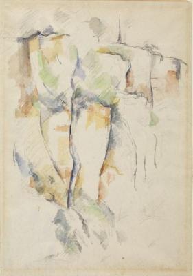Cezanne aquarelle rochers bibemus 2