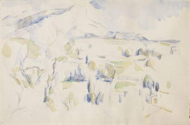 Cezanne la montagne sainte victoire vue des lauves en hiver
