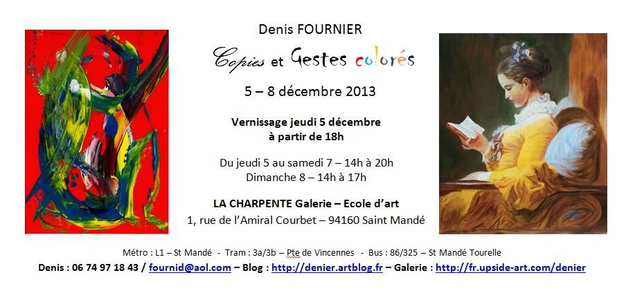 Flyer expo la charpente lettres colorees gf
